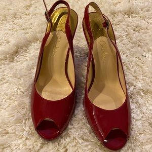 Cole Haan Heels Red Paten leather NikeAir Addition